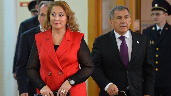 Президент Республики Татарстан Рустам Минниханов с супругой Гульсиной. Архивное фото