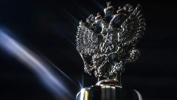 Литой Двуглавый орел на производстве церковной утвари и сувениров в Великом Новгороде