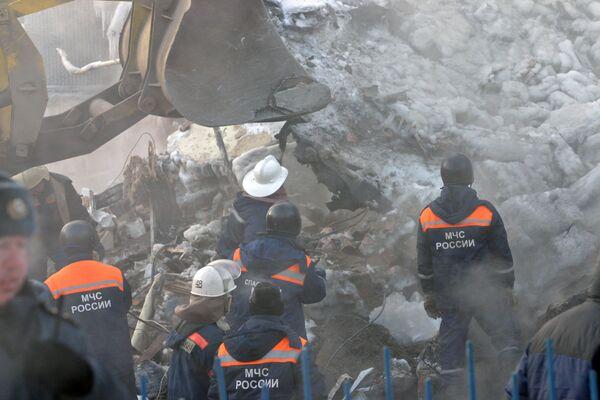 Обрушение дома от взрыва газа