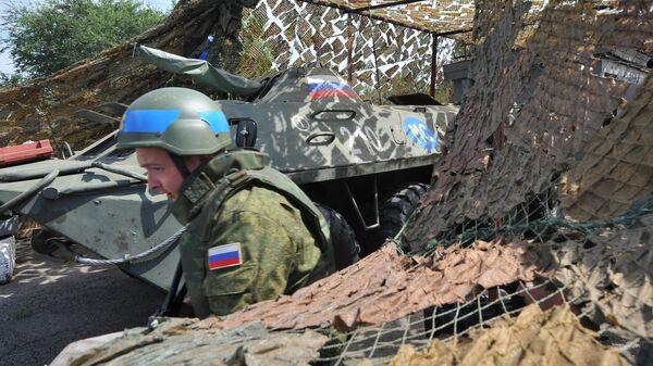 Российский миротворец на блокпосту в Приднестровье