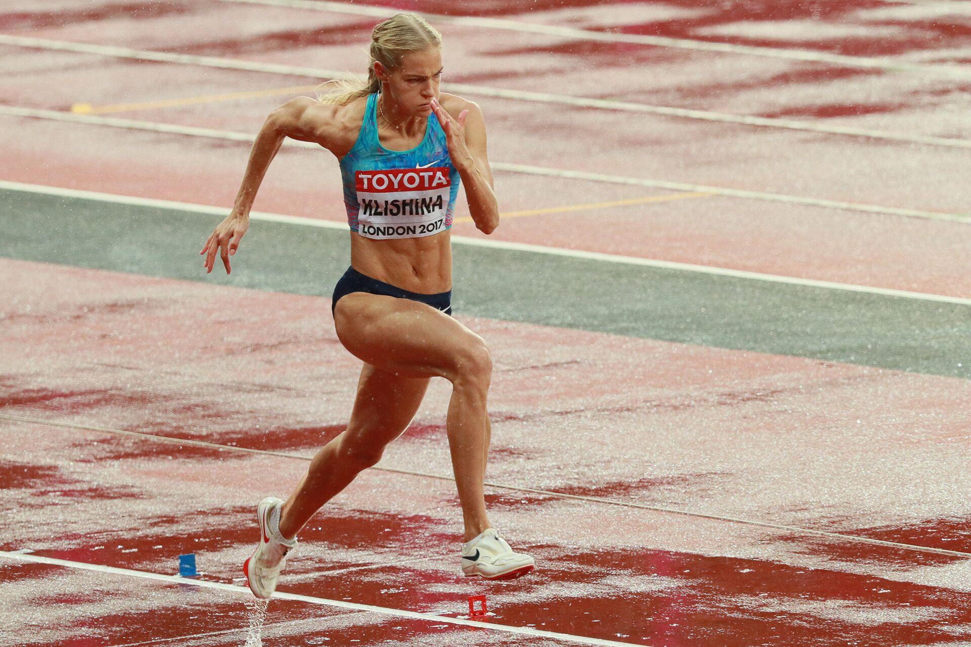 Дарья Клишина (АNA) во время квалификационных соревнований по прыжкам в длину среди женщин на чемпионате мира 2017 по легкой атлетике в Лондоне - РИА Новости, 1920, 29.07.2021