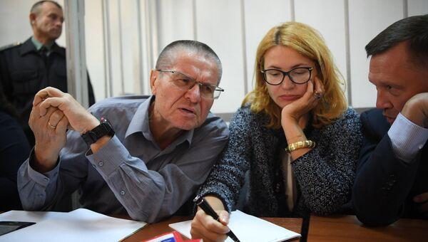 Экс-министр экономического развития Алексей Улюкаев на заседании Замоскворецкого суда. 1 сентября 2017