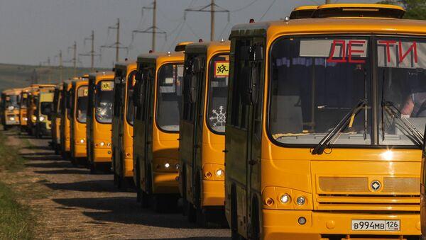 Колонна автобусов. Архивное фото