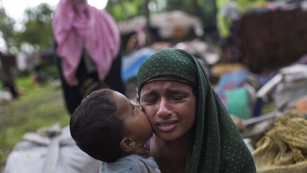 Рохинджа на границе Техафа после переезда из Мьянмы. 2 сентября 2017