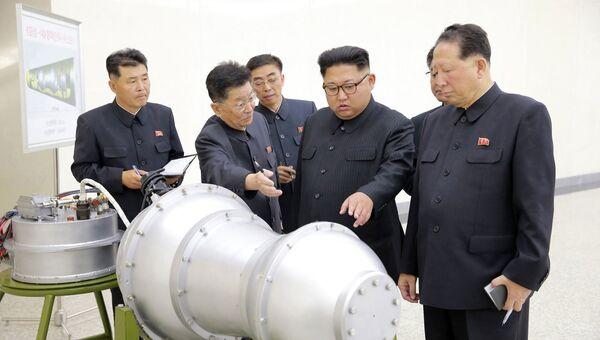 Лидер КНДР Ким Чен Ын лично осмотрел водородную бомбу. Архивное фото