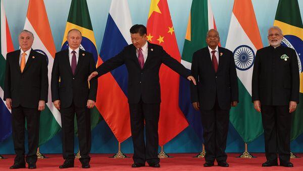 Президент РФ В. Путин принял участие во встрече лидеров БРИКС. 4 сентября 2017