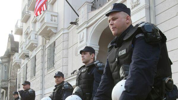 После митинга в центре Белграда вспыхнули беспорядки