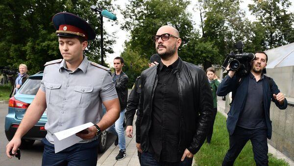 Режиссер Кирилл Серебренников после заседания Московского городского суда. 4 сентября 2017