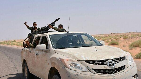 Сирийские военные в окрестностях Дейр-эз-Зора