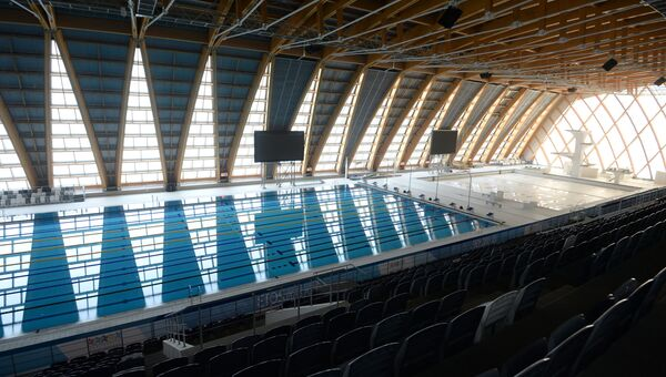 Дворец водных видов спорта в Казани.