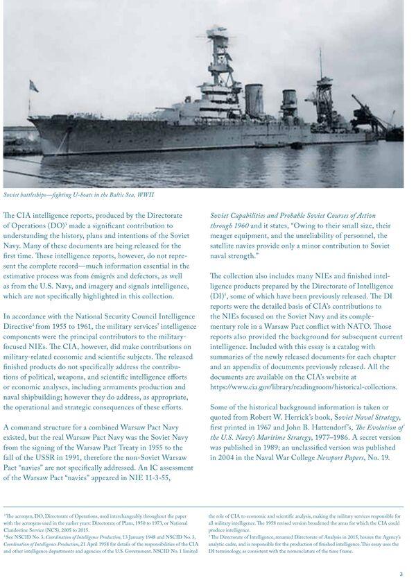 Брошюра под названием Советский флот. Разведка и анализ во время холодной войны