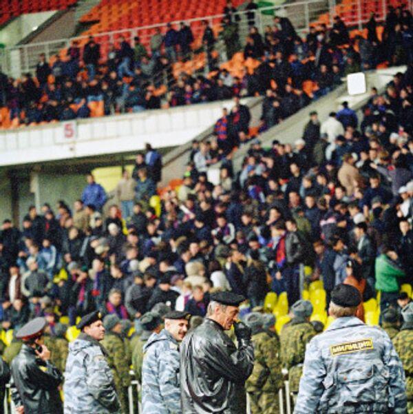 Охрана порядка на стадионе во время матча