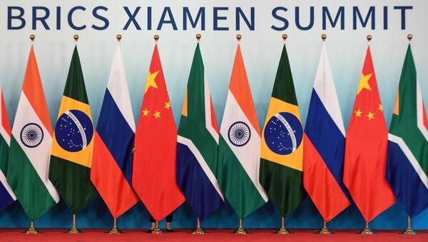 Флаги стран-участниц встречи лидеров БРИКС. Архивное фото