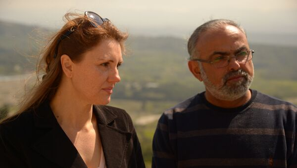 Ирина Ассаф и ее муж Ибрагим. Архивное фото