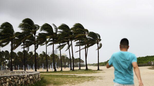 Последствия урагана Ирма в городе Майами-Бич, Флорида. 9 сентября 2017
