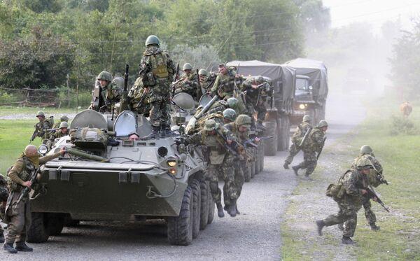Российские военные в зоне конфликта