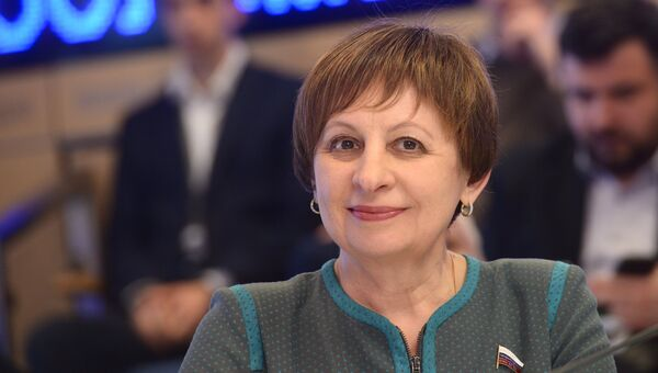Член Комитета Госдумы РФ по международным делам Ирина Евтушенко. Архивное фото