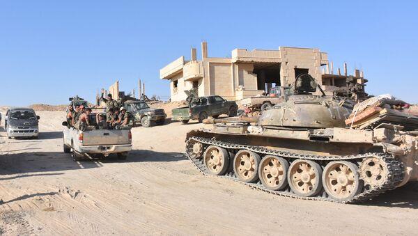 Сирийские военные в Дейр-эз-Зоре