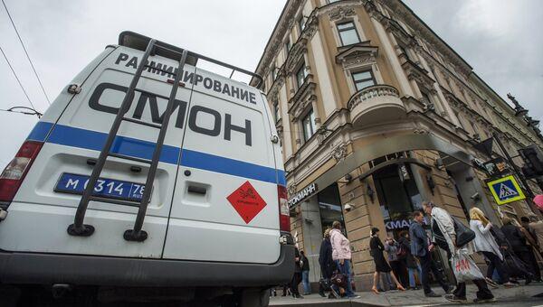 Автомашина правоохранительных органов в центре Санкт-Петербурга. 14 сентября 2017