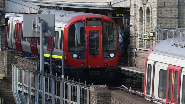 Платформа станции метро Parsons Green в западном Лондоне