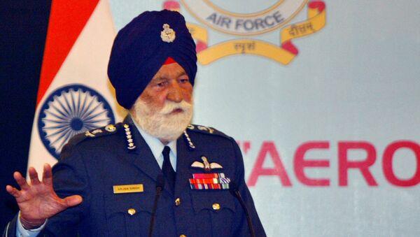 Военачальник, маршал авиации ВВС Индии Арджан Сингх. Архивное фото