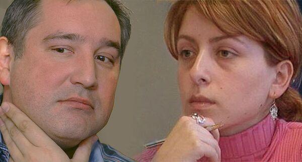 Дмитрий Рогозин и Эка Ткешелашвили