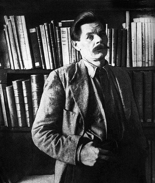 Максим Горький на острове Капри.  1913 год.