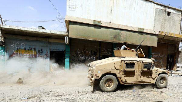 Автомобиль Сирийских демократических сил, поддерживаемых США. Архивное фото