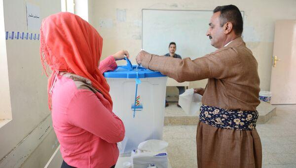 Голосование на избирательном участке в городе Эрбиль в Иракском Курдистане. Архивное фото
