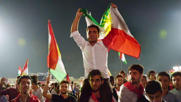 Сторонники независимого Иракского Курдистана на Фестивале независимости. Архивное фото