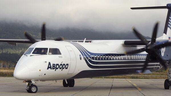 Самолет Bombardier Q400 авиакомпании Аврора