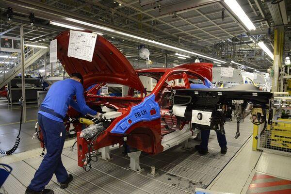 Производство Kia Rio на заводе Hyundai Motor Manufacturing Rus