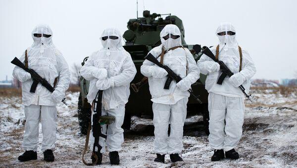 Военнослужащие миротворческого соединения Центрального военного округа