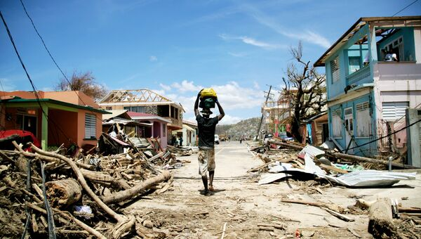 Последствия урагана Мария на острове Доминика в Карибском море. Архивное фото
