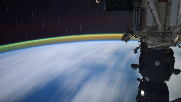 Снимок космонавта Сергея Рязанского из космоса. Архивное фото