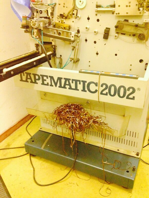 Оборудование для намотки пленки. Станок был установлен на заводе Славич в 93-м году на российско-итальянской автоматической линии по производству аудиокассет.