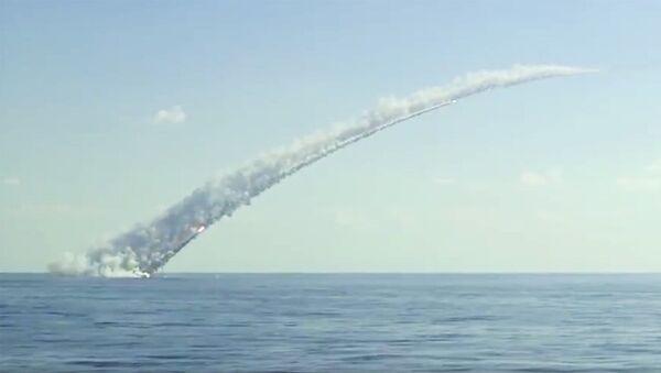 Запуск ракет Калибр с российских подлодок. Архивное фото