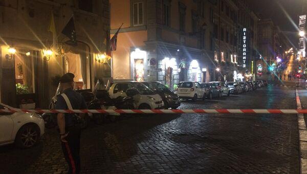 Подозрительный чемодан найден в центре Рима. 5 октября 2017 года