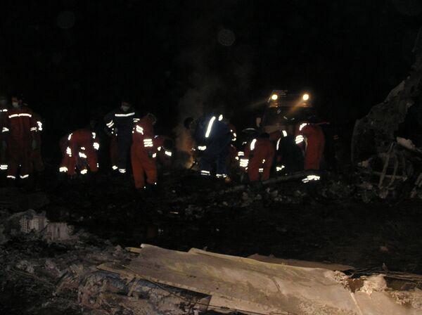 Крушение самолета в Киргизии
