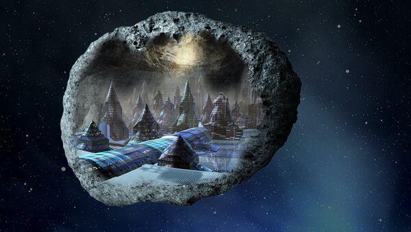Так художник представил себе город внутри астероида