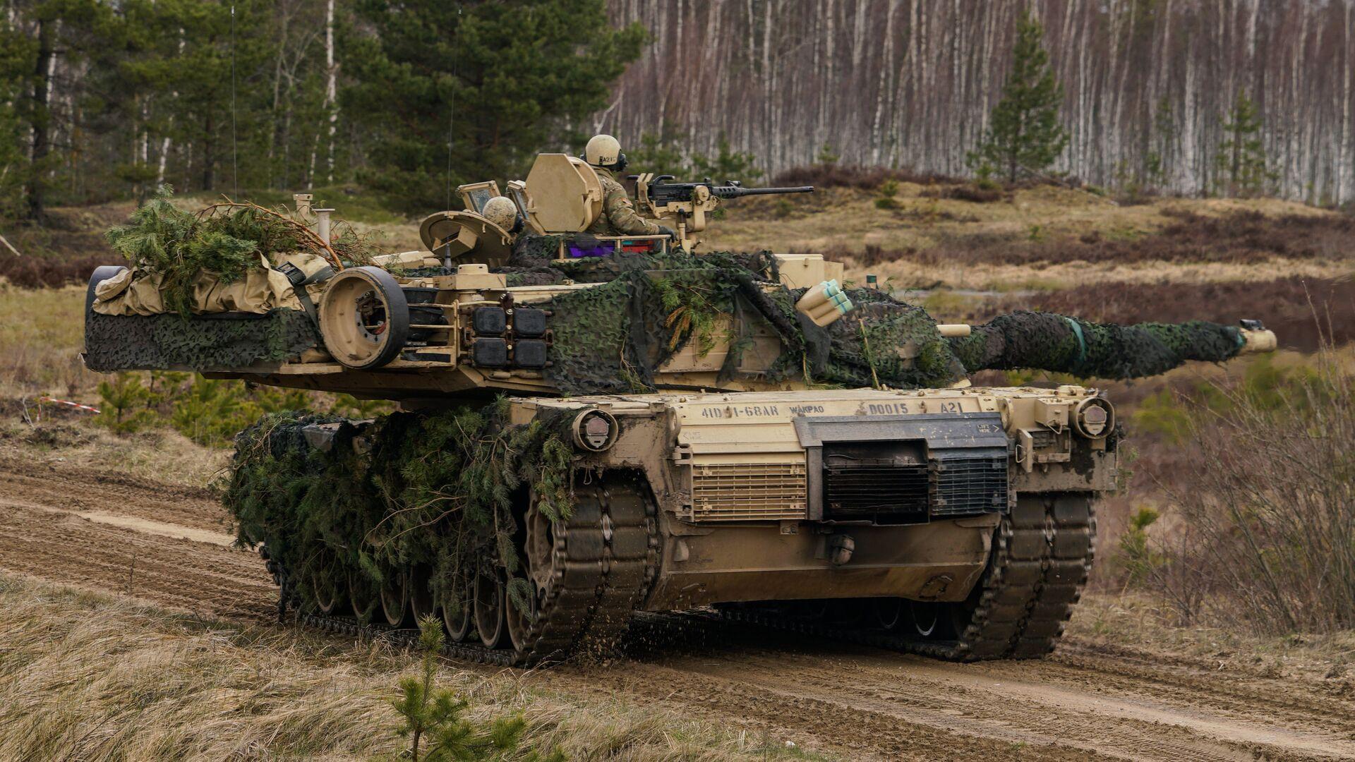 Танк M1 Abrams на международных военных учениях Summer Shield XIV в Латвии - РИА Новости, 1920, 04.02.2021