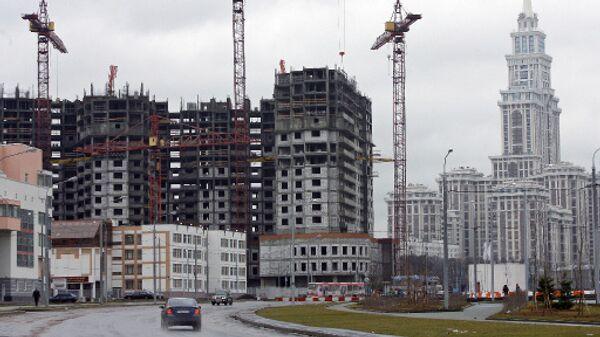 Строительство комплекса жилых зданий