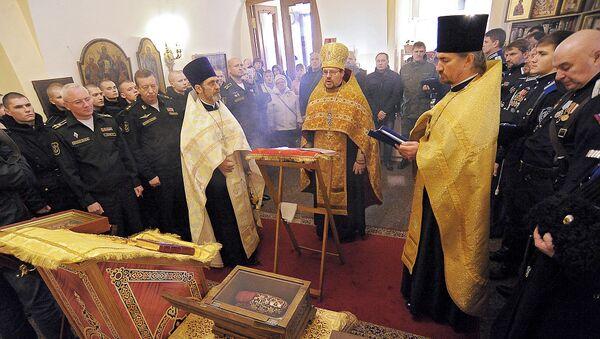 Ковчег с башмачком святителя Спиридона Тримифунтского. Архивное фото