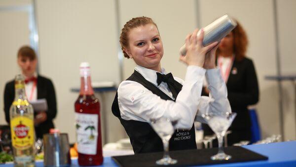 V Национальный чемпионат WorldSkills в Краснодаре. Соревнования в компетенции Ресторанный сервис