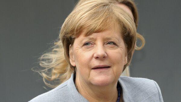 Канцлер ФРГ Ангела Меркель прибывает на саммит ЕС в Брюсселе. 19 октября 2017
