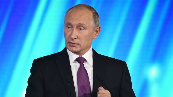 Владимир Путин принимает участие в итоговой пленарной сессии XIV ежегодного заседания Международного дискуссионного клуба Валдай. 19 октября 2017