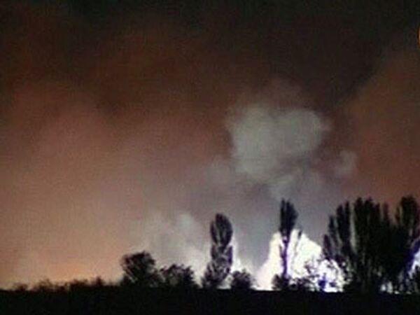 На Украине рвутся снаряды: горит склад с боеприпасами