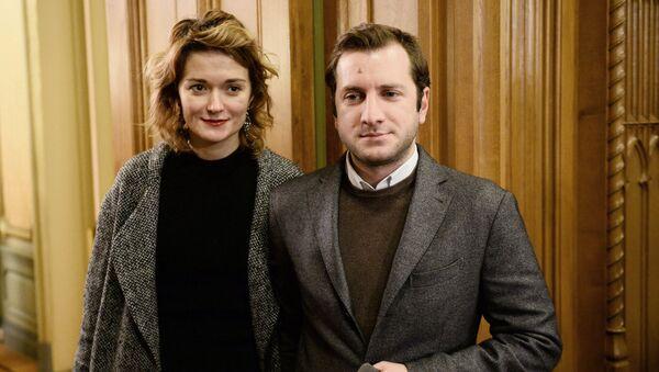 Актриса Надежда Михалкова с супругом режиссером Резо Гигинеишвили. Архивное фото