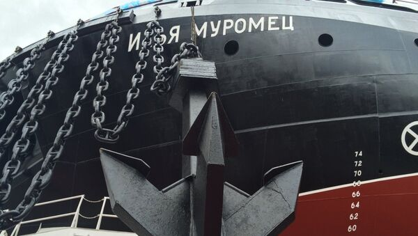 Государственные испытания новейшего ледокола Илья Муромец