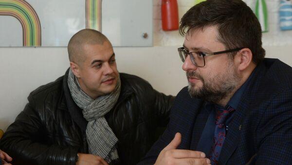 Адвокаты журналиста Василия Муравицкого Андрей Гожий и Андрей Доманский